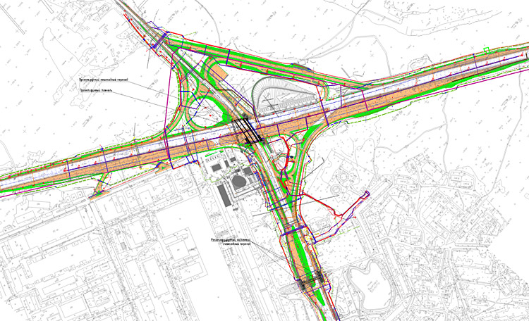 Проект развязки на 40-м км